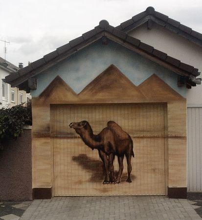 2005 Dromedar Graffiti Garagentor