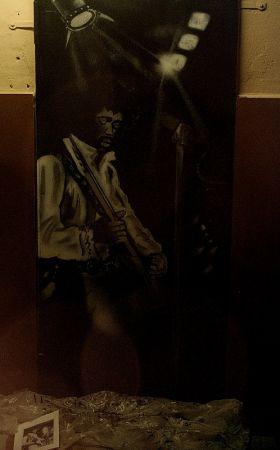 Jimmi Hendrix Graffiti