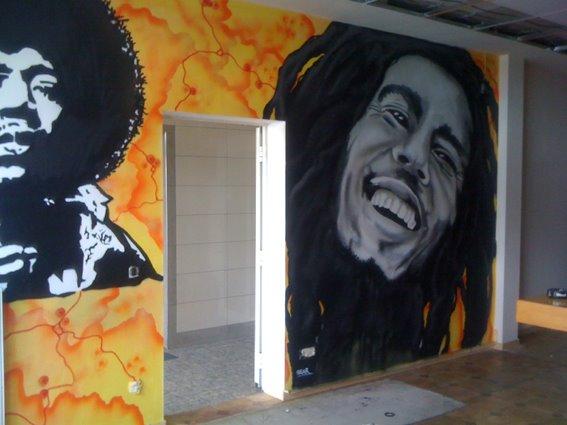 Bob Marley Graffiti