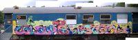 Graffiti auf Zug