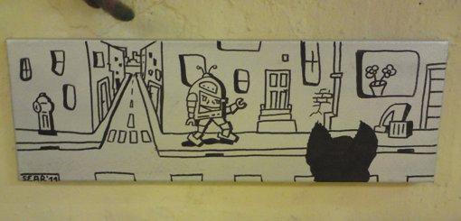Graffiti_Roboter_Leinwand