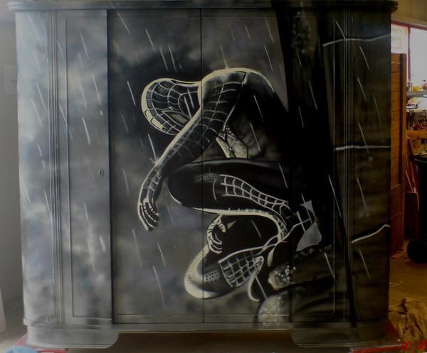 Spiderman Graffiti Schrank